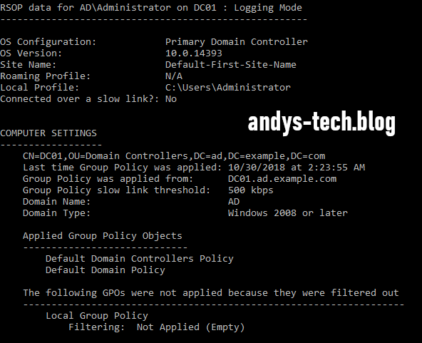 Troubleshooting Group Policies - Andy's Tech Blog