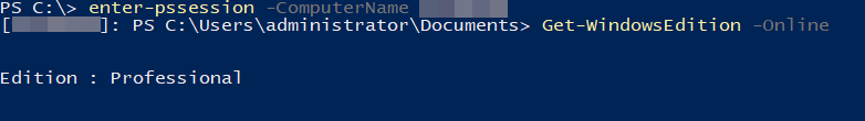 Powershell Current Windows Edition