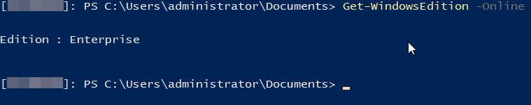 Powershell: Upgraded Windows Edition