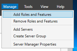 Add roles and features