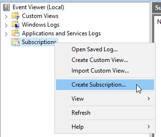 Create subscription